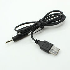 Male Plug Jack 3.5mm To USB 2.0 Male AUX Audio Adapter Converter Cable Black