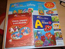 ABC IMPARO A LEGGERE CON DISNEY N° 1 ALBUM DEI GIOCHI + LIBRO + MAGNETE HACHETTE