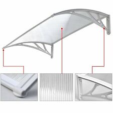 FRONT/BACK DOOR CANOPY SHADE SMOKE SHELTER HOUSE/CARAVAN (WHITE) 1200mm x 800mm