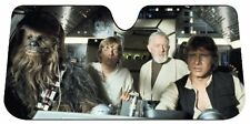 Star Wars Millenium Falcon Sun Shade Car Visor Truck Accordion Style Han Luke