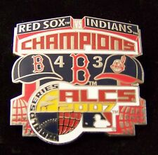 2007 Boston Red Sox AL American League Champions vs Cleveland Indians lapel pin