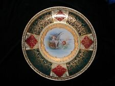 Antique Royal Vienna porcelain charger { artist sign}