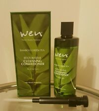 Wen Bamboo Green Tea Restorative Cleansing Conditioner 16 oz. New, Sealed + Pump