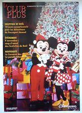 """ANCIEN MAGAZINE """"LE CLUB PLUS"""" N°9 / NOVEMBRE 1996 / DISNEYLAND PARIS"""