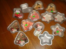 WILTON Lot of 13 Holiday Personal Size Mini Cake Pans - New