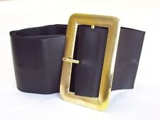 Chunky Pirate -Santa Leather Look Black Belt Excellent For Santa Costume -Pirate
