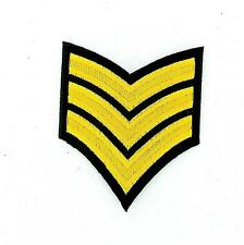Patch embroidered military army rank stripes chevrons epaulet insignia wings r2