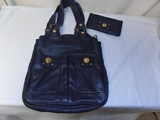 Marc by Marc Jacobs navy blue large leather purse/shoulder bag/handbag & wallet