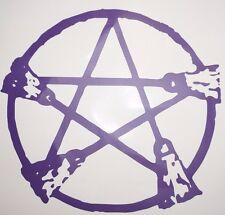 Wall Art Vinyl Sticker decal window bumper car decor door Pentagram witch broom
