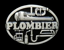 PLOMBIER PLOMBERIE FRENCH PLUMBER TOOLS OCCUPATION BELT BUCKLE  BOUCLE CEINTURE
