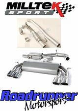 "Milltek Golf R MK7 Turbo Back Race Exhaust 3"" Resonate No Valves & De-Cat Polish"