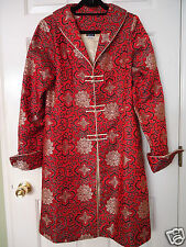 ANNIE'S EYE  Women's Medium Red Black Lined Chinese Asian Robe NWOT