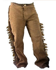 Elk Rider Trading Post Rendezvous mountain man Cowhide buckskin Pants 34w up  38