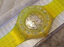 "NEW SWATCH SCUBA LIBRE ""LEMON PROFOND"" DIVE WATCH SUUJ101 MENS/LADIES/BOYS/GIRLS"