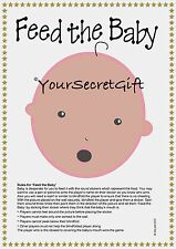 """FEED the BABY"" Shower Game for 20. ETHNIC EDITION ready to play and have fun!"