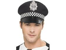 Unisex Police Panda Cap Stag Do Fun Mens Black White Uniform Cop Hat Bobby Fun