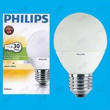 4x 7W Philips CFL Low Energy Long Life Mini Globe ES E27 Light Bulb Lamps 2700K