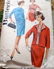 *LOVELY VTG 1960s SKIRT, OVERBLOUSE, & JACKET Sewing Pattern 12/32