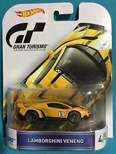2016 HOT WHEELS GRAN TURISMO PS4 #4/5 LAMBORGHINI VENENO YELLOW RR's 1:64 3+