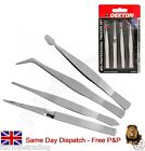 4 Piece Tweezer Set Tool Stamp Collector Hobby Philately Airfix Revel Craft Card