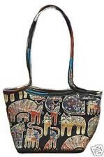 Laurel Burch Fantastic Feline Cats Tapestry Handbag Small Tote Handbag New