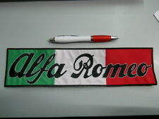 patch ALFA ROMEO embroidery ITALY embroidered thermoadhesive 29x10 cm