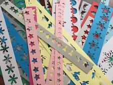 65 x JOB LOT card Embossing Stencil craft making Snowflakes bunnies butterflies