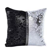Bling Black Silver Waist Throw Pillowcase Cushion Cover Sofa Couch Home Decor