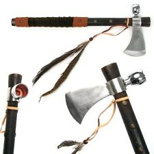 Tomahawk Peace Pipe Axe - 19 Inches with Wood Handle Hatchet