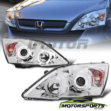 [Dual CCFL Halo] 2007 2008 2009 2010 2011 Honda CRV Projector Chrome Headlights