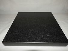 Granite isolation platform plinth Subwoofer stand BLACK LARGE  400x400х45mm