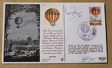 2ND MANNED AERIAL VOYAGE HYDROGEN BALLOON 1983 COVER SIGNED VC WINNER IAN FRASER