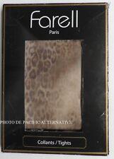 Collants MARRON feline - Taille 1 - 80 D - FARELL pour femme leopard NEUF #C18