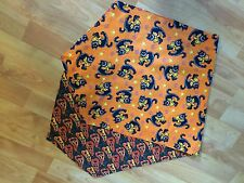 Reversable Fall Halloween Pumpkin Black Cat Table Runner Decor