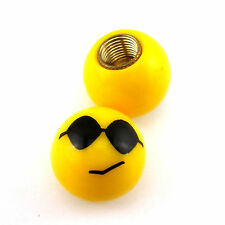 Sunglasses Cool Smile Expression Wheel Tire Valve Stem Cap Dust Cover For Yamaha