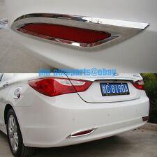PM Polish Chrome Rear Fog Light Lamp Molding Trims New for Sonata 8 2011-2014
