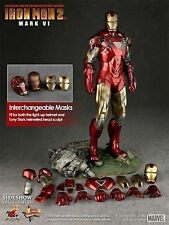 Hot Toys 1/6 MMS132 Iron Man Movie 2 Mark 6 Ironman Battle Damaged Armour Suit