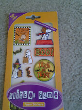 SNOOPY & PEANUTS GANG pack of 10 FOAM HALLOWEEN STICKERS for CRAFTS SCRAPBOOKING