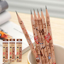 12pcs Cute Pencil Bon Voyage HB School Novelty Writing Wooden Pencil For KidsLAX