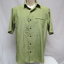 Red Head Green Plaid Fish Shirt size S
