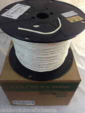New 1000' West Penn 975WH 1 PAIR 18 AWG SOLID SHIELDED PVC 975WH1000