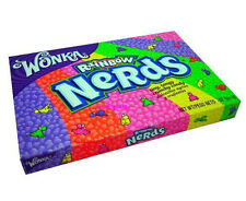Wonka NERDS RAINBOW THEATER BOX candy 5oz 141.7g NESTLE hershey tiny tangy