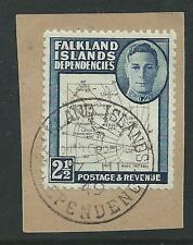 FALKLAND ILDS DEPENDENCIES, KGV1 2 1/2d SG G11b, FINE USED ON PIECE