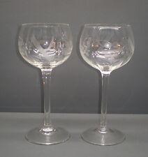 2 x Weinglas / Weißweinglas mit Trauben Motiv