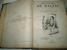 """1851"" OEUVRES ILLUSTREES DE BALZAC IN FRENCH"