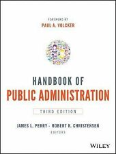 Handbook of Public Administration by James L. Perry and Robert K. Christensen...