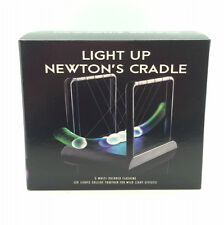 LED Light Up Newtons Cradle Kinetic Balls Executive Desktop Toy Gift Gadget