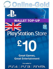 PlayStation Network Card 10 Pounds - £10 GBP PSN Store Wallet Code PS4 PS3 PSP