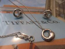 Tiffany & Co. Elsa Peretti Eternal Circle Sterling Silver Necklace & Earring Set