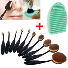 Oval Cream Puff Cosmetic Toothbrush Shaped Power Makeup Foundation Brushes 10Pcs